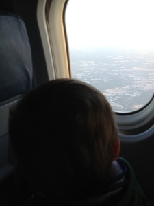 Connor's first airplane ride.
