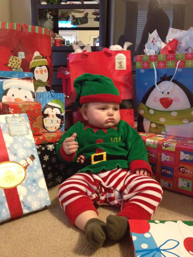 Connor's first Christmas in pictures (6/6)