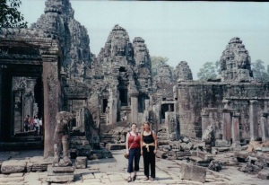 With Cyrina in Cambodia.