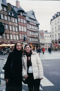 In Rennes, France with Cecile in November 2002.