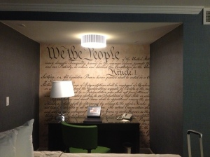 The wall in my hotel room.