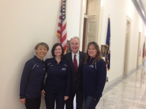 With Georgia representative Tom Price.
