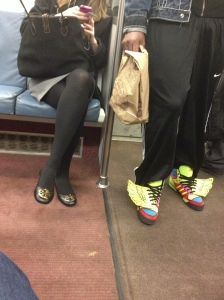 DC footwear on the Metro.