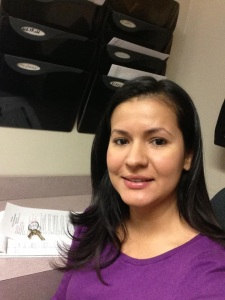 Giovana took her purple to the court house (where she's an interpreter, not a criminal).