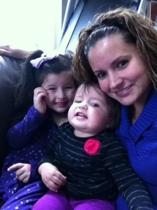 Claudia, Isabella and Arianna made it a family affair.