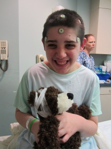 Nic right before brain surgery.