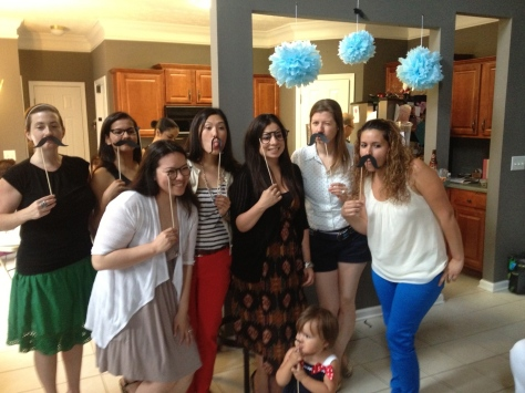 Gio and Damien's mustache-themed baby shower.