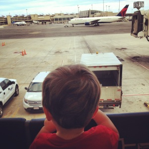 Plane watching at Boston Logan.