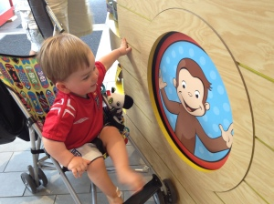 We visited the only Curious George Store in the world at Harvard Square.