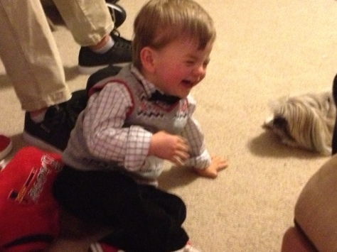 Connor loves Cleo the dog.