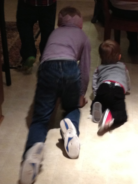A cool cousin is one that gets down and crawls with you.
