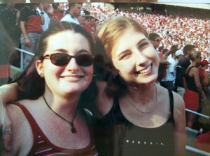 At a UGA football game circa 1999.