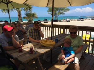 Getting hot dog's at Anita's sandcastle.