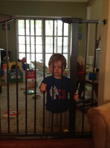 We gave him a playroom, and he acted like he'd been sentenced to Riker's.