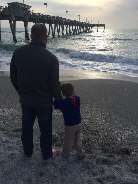 In Venice, FL to visit Grandma Judy and Grandpa John.